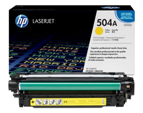 Genuine  CE252A Yellow Laser Toner HP OEM